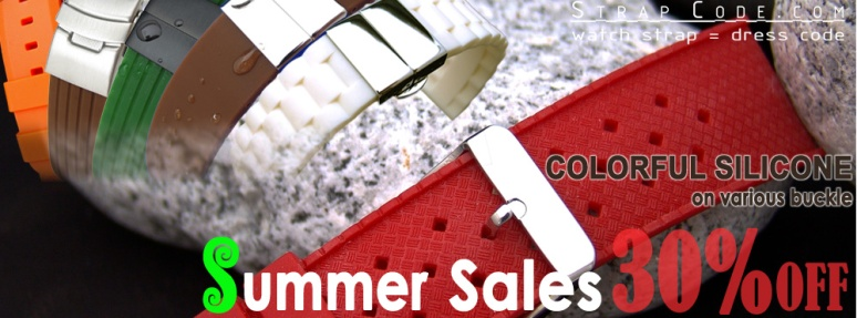 Strapcode 2013 Summer Sale on Colorful Silicone Straps