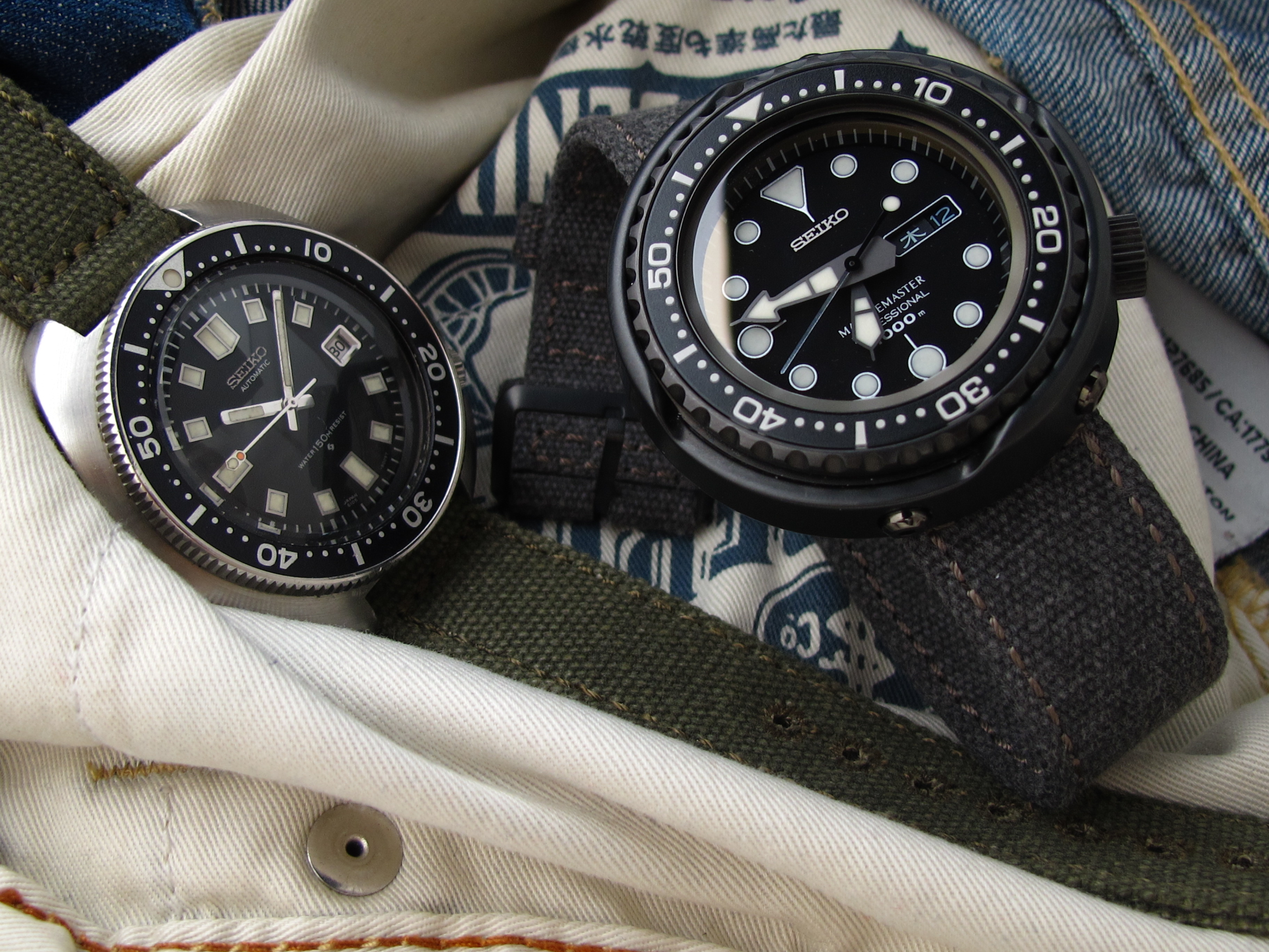 cb94ff94b43 MiLTAT WW2 2-piece Washed Canvas   Camouflage Cordura 1000D Watch Band  Collection