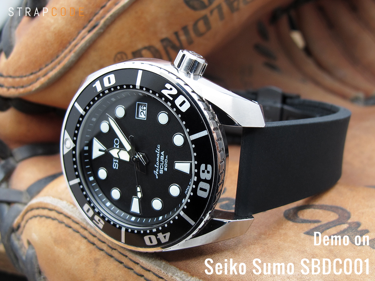 Omega Leather Watch Strap >> Absolute Black | Seiko Sumo SBDC001 – Strapcode