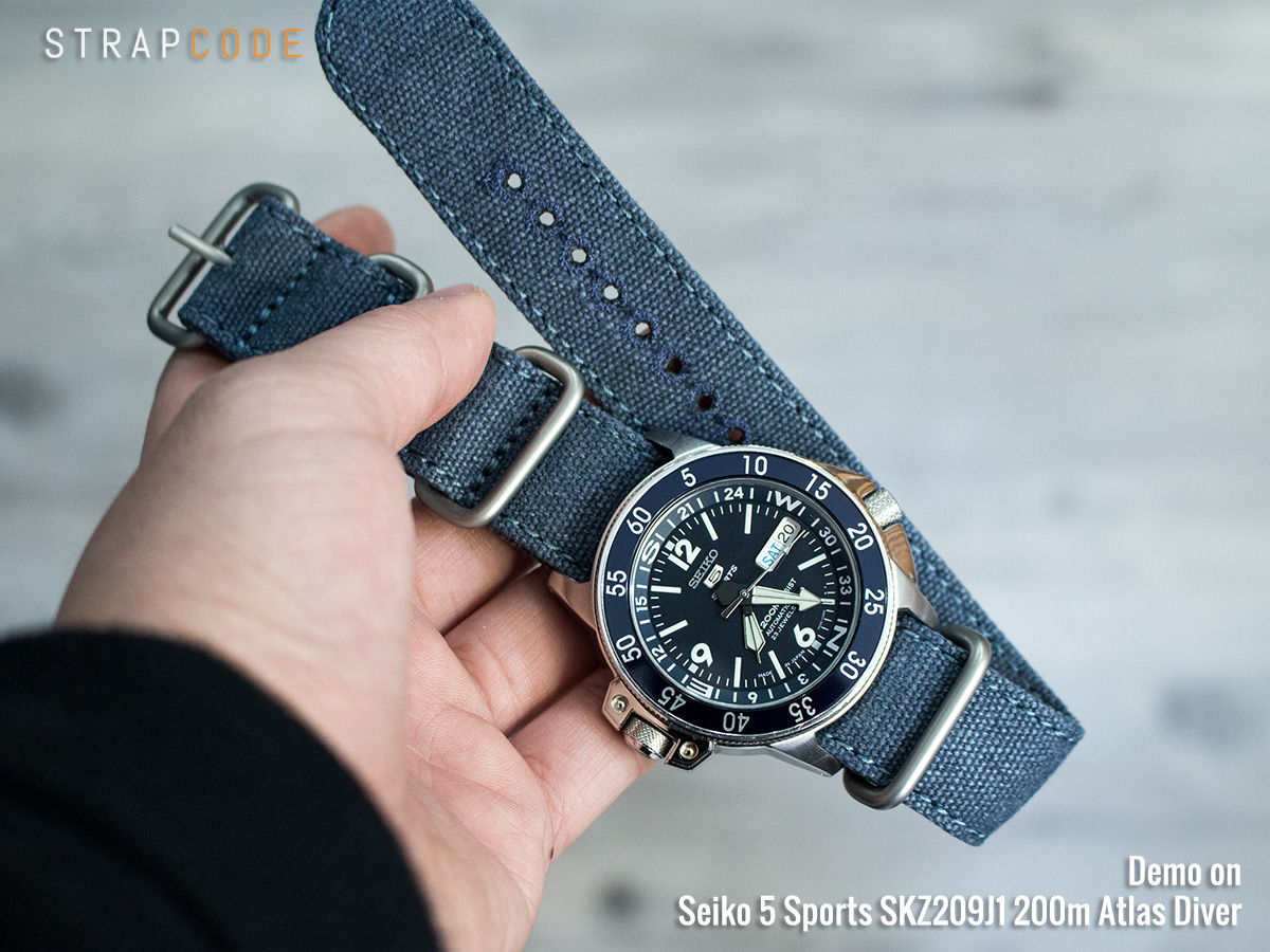 The Coolest Blue Seiko Atlas Skz209j1 Strapcode