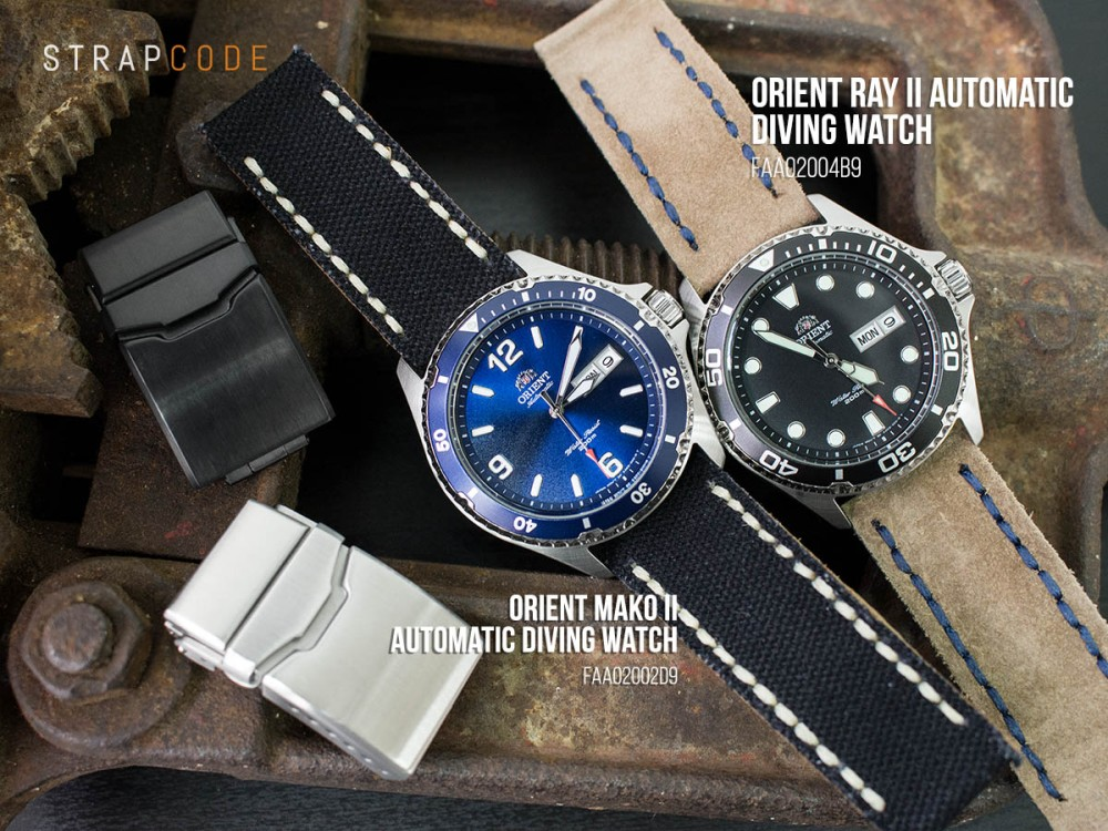 Orient Mako Ii Vs Ray Ii Strapcode