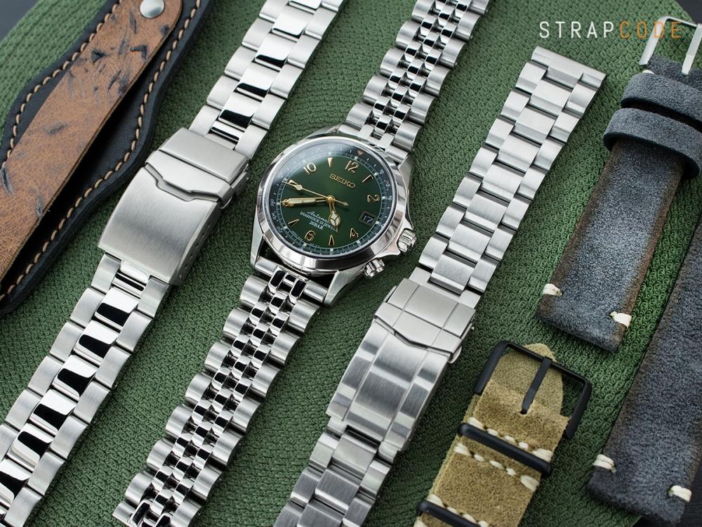 c8568d543d5 ... ss201820b058s grp-seiko-alpinist-sarb017 ss201820b058s seiko-alpinist- sarb017 20mm ANGUS Jubilee 316L Stainless Steel Watch Bracelet ...