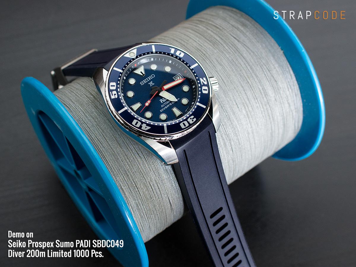 Bracelet caoutchouc seiko sumo