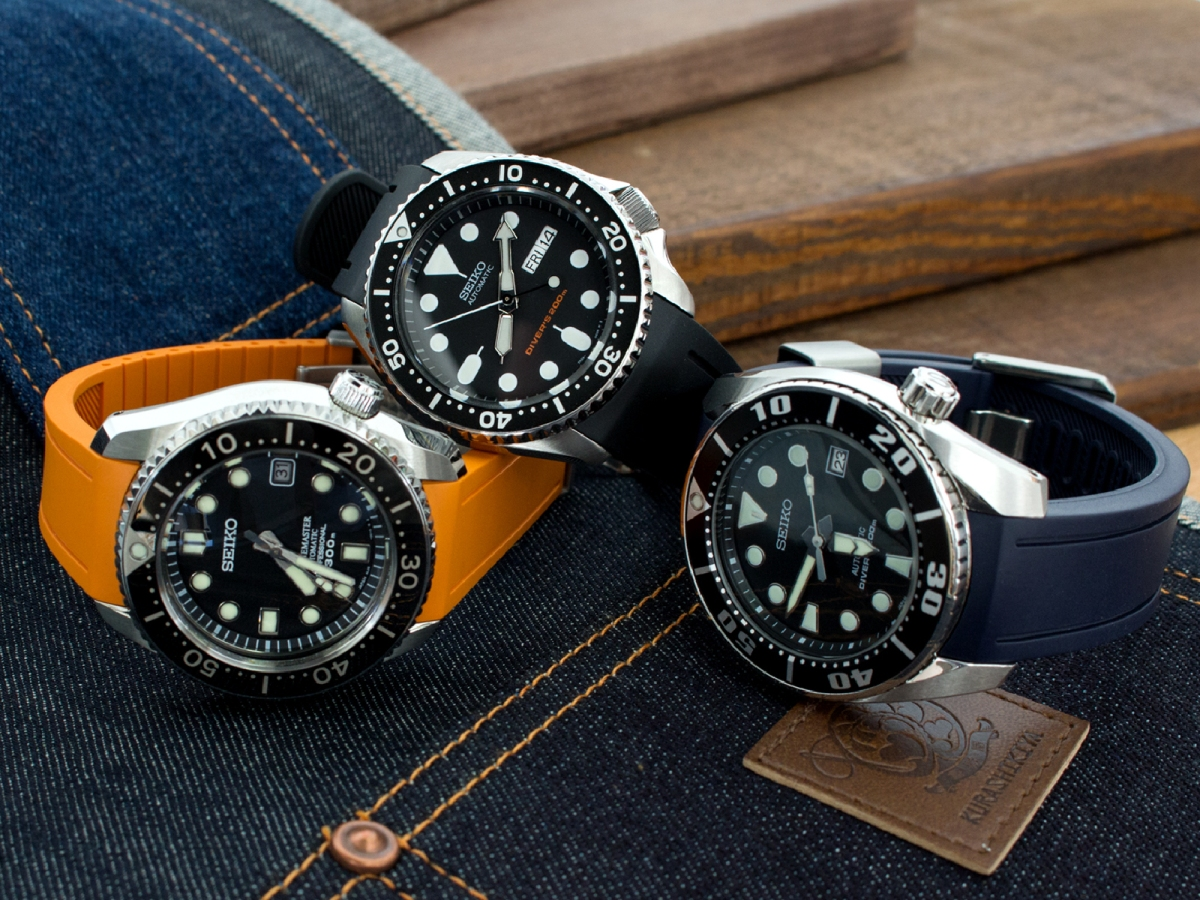 NO more Gap - Curved Lug Rubber straps tailor made for Seiko