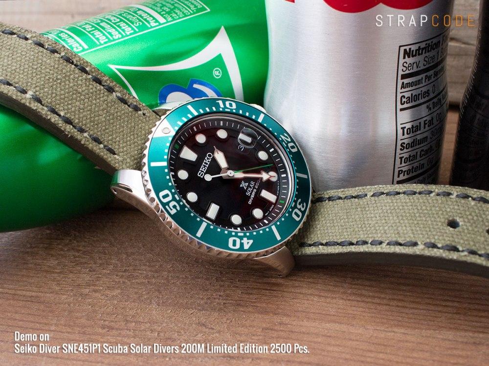 It's GREEN – Seiko Diver SNE451P1 Scuba Solar Divers 200M Limited