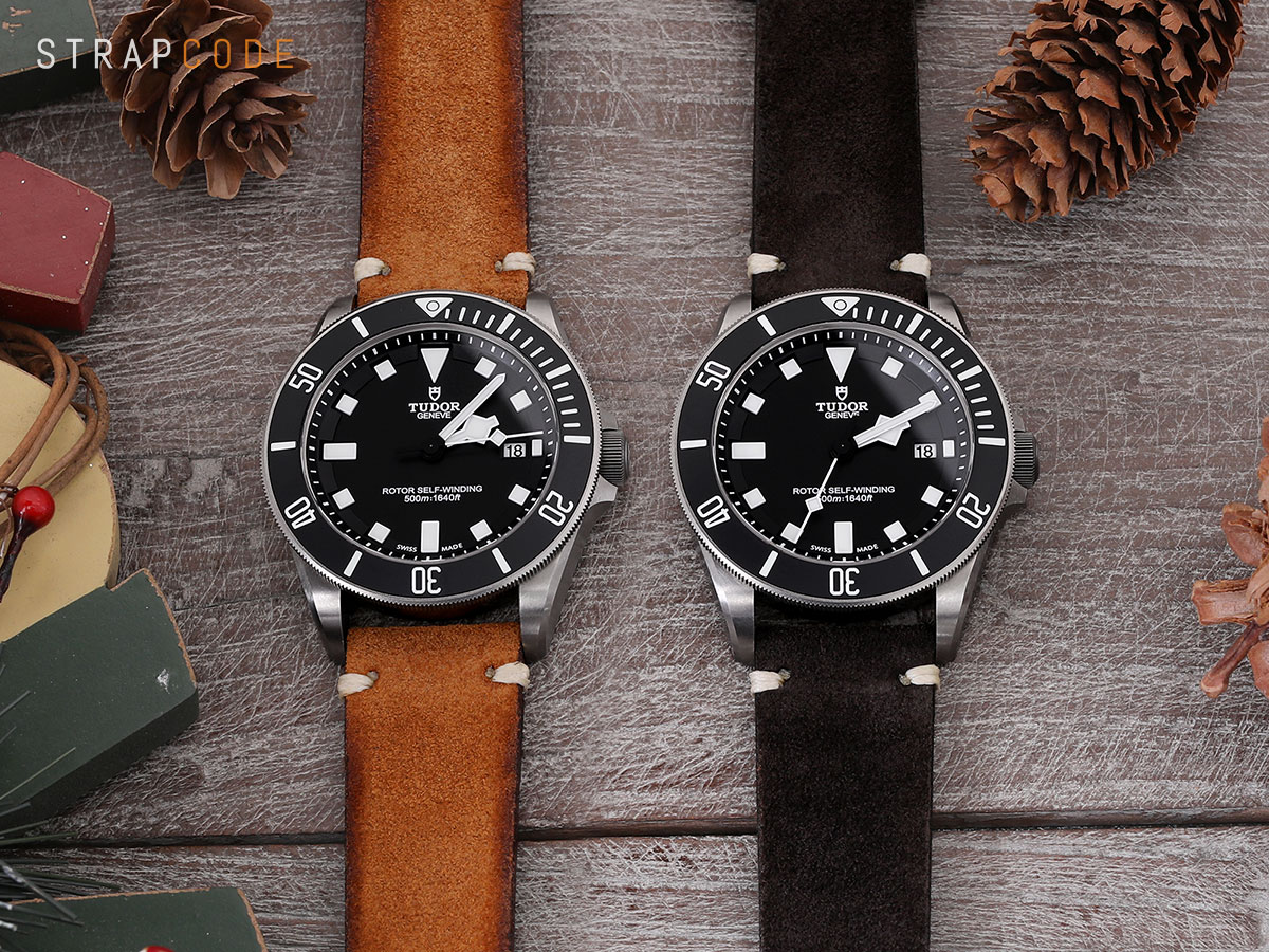 22mm Leather Watch Band >> Pick a color, create a story for your Tudor Pelagos 25500TN – Strapcode