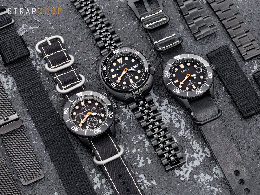 Seiko Black Series Solar Solar Chrono New Turtle All