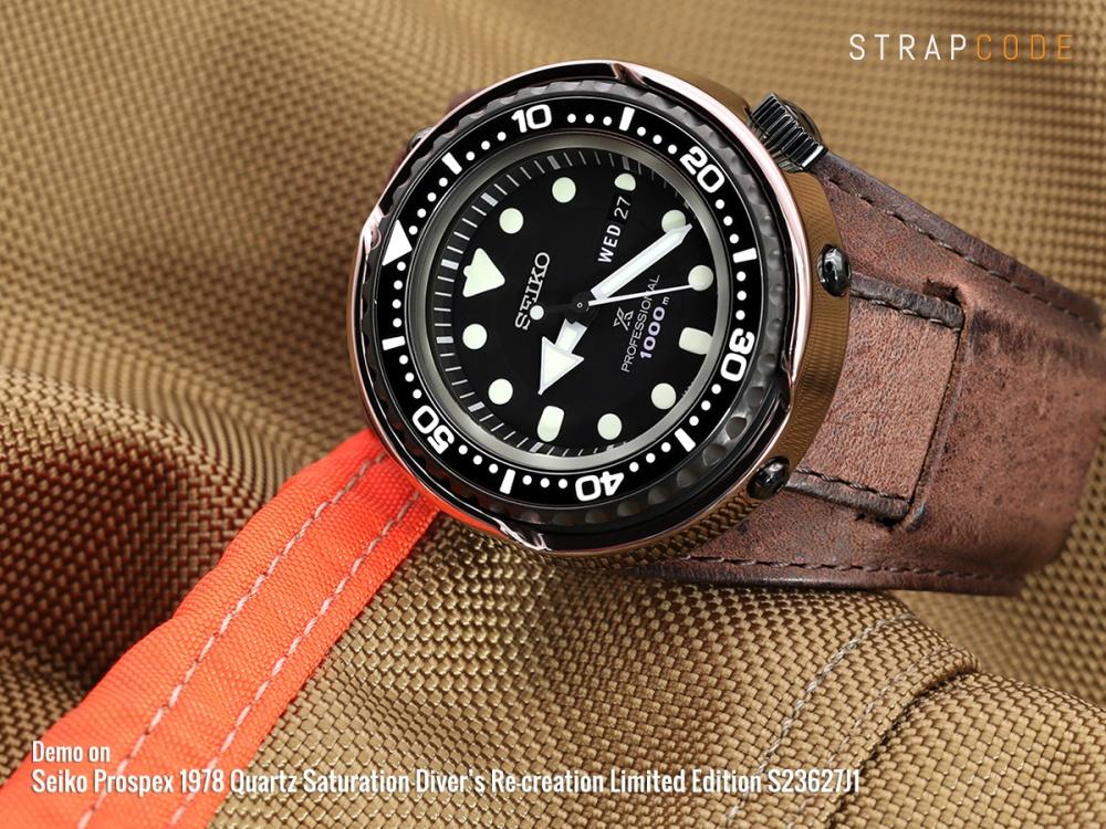 9ec2aaee8 22mm Italian Handmade Bund Military Style Double-layer Watch Strap, Dark  Brown 22B20PBU54C1C44