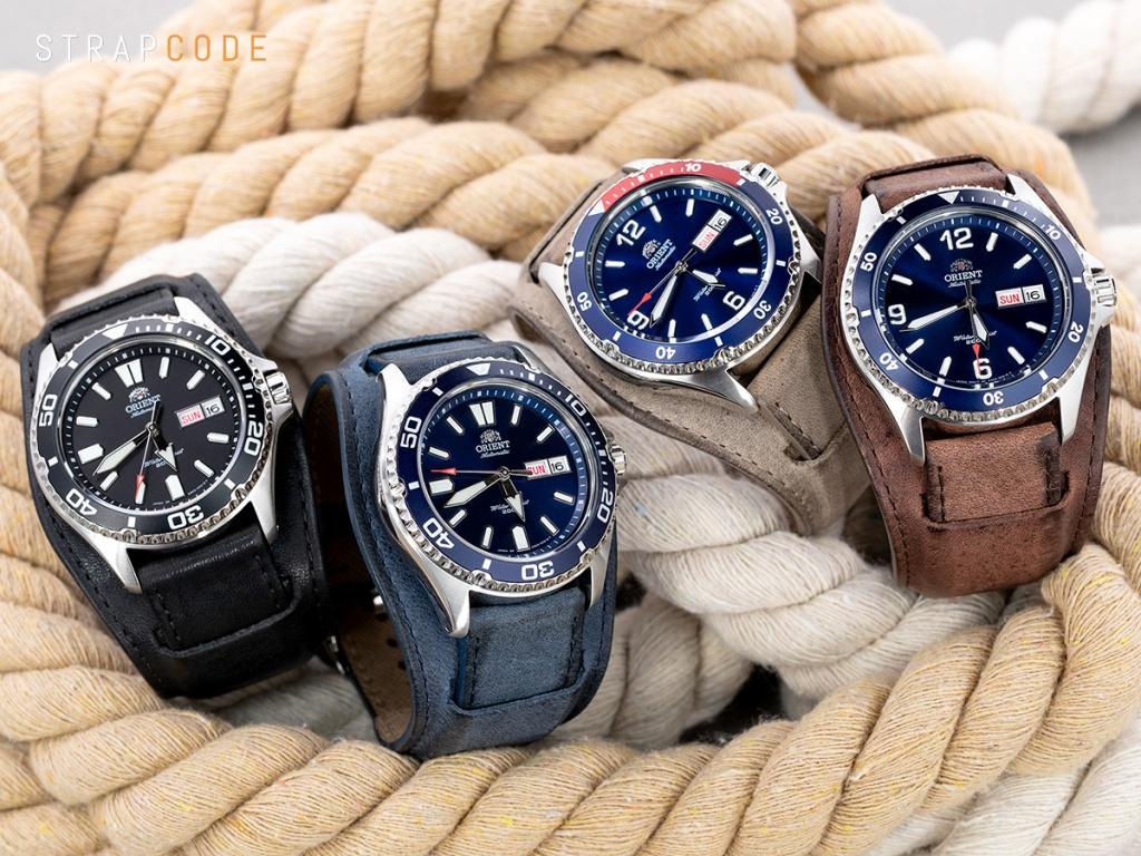 b45f9c3c9 22mm Italian Handmade Bund Military Style Double-layer Watch Strap, Black  22B20PBU54C1A74 ; the Navy Blue – 22B20PBU54C1B23