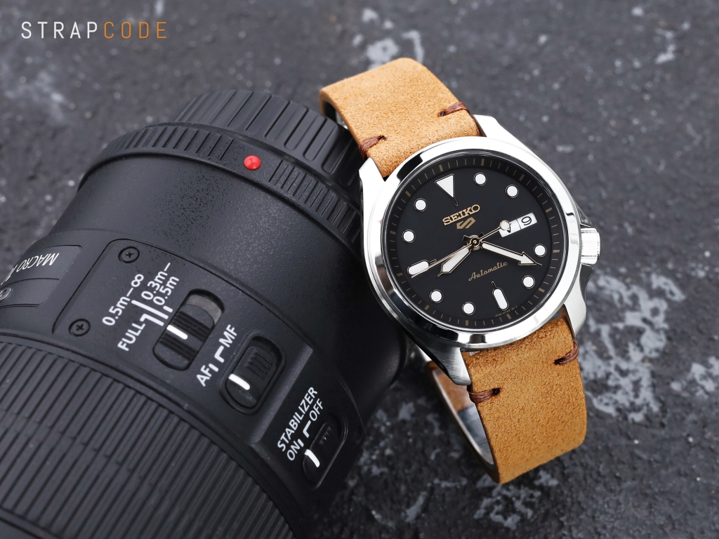 strapcode watch bands 20 mm MiLTAT Camel Genuine Leather One-piece Suede Quick Release Watch Strap