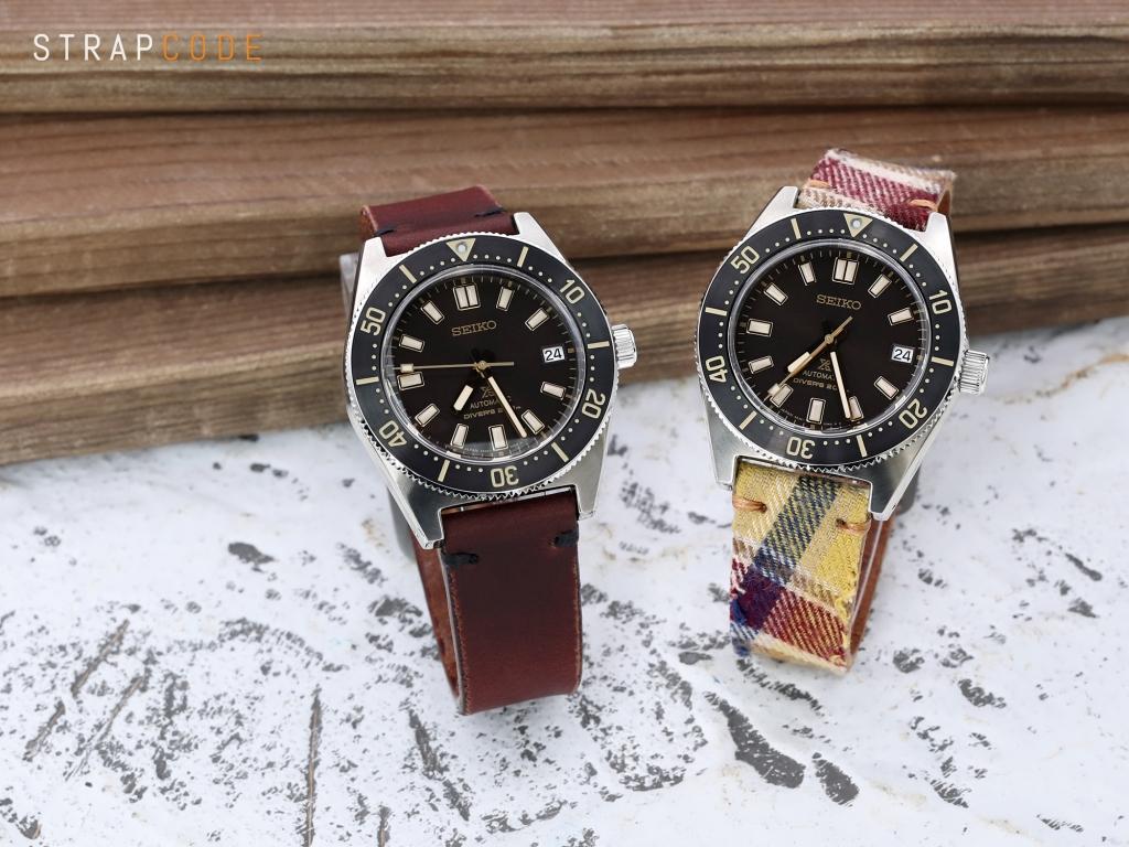 strapcode watch bands 22mm MiLTAT Stewart Camel Tartan Pattern Watch Strap, Brown Stitching