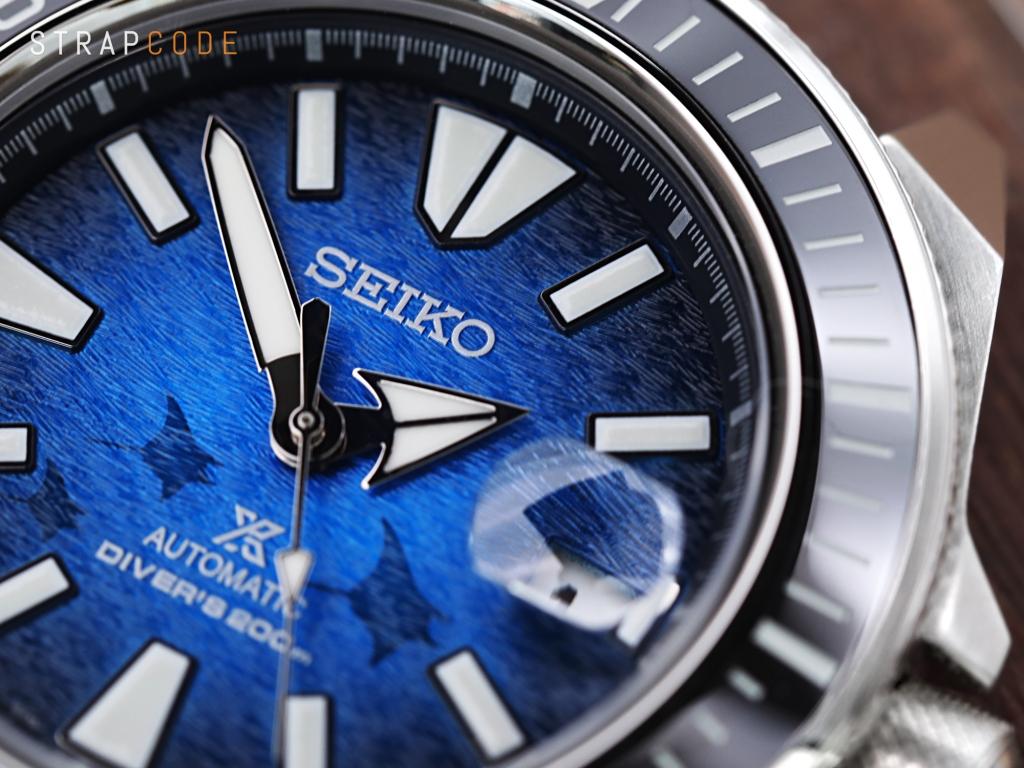 strapcode watch bands Seiko King Samurai 'Save The Ocean Manta Ray Edition' SRPE33K1 Diver Watch