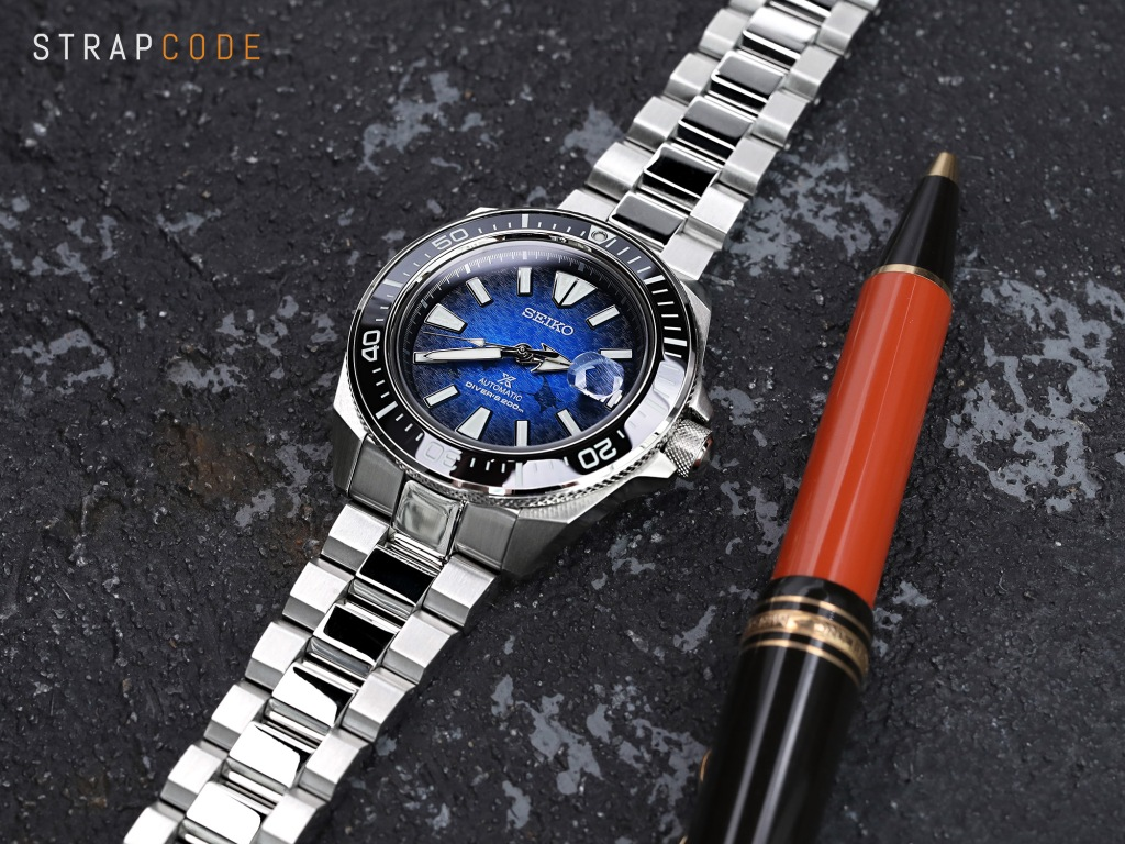 strapcode watch bands 22mm Hexad 316L Stainless Steel Bracelet for Seiko Samurai SRPB51