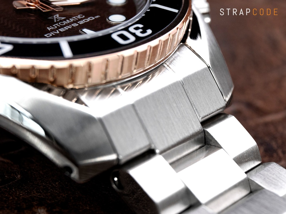 strapcode watch bands seiko-sumo-rootbeer-spb192-endlink-hexad