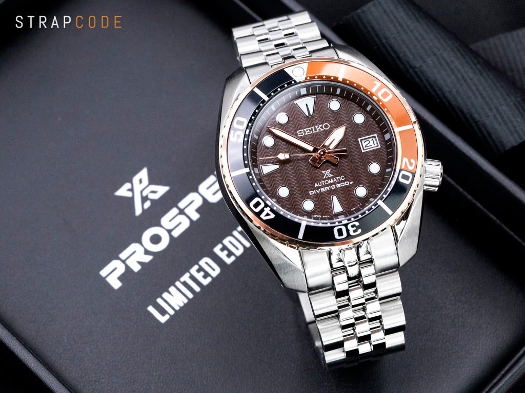 strapcode watch bands ss201820b057-seiko-sumo-rootbeer-spb192